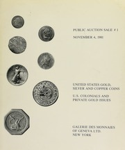 Public auction sale ... : U.S. Gold, silver and copper coinage. [11/04/1981]