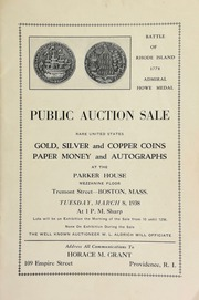 Public auction sale : rare United States gold, silver and copper coins, paper money and autographs. [03/08/1938]