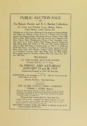 Public Auction Sale of the Robert Hewitt and B.C. Bartlett Collections