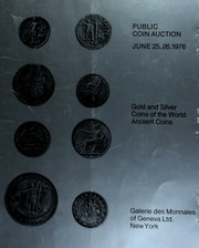 Public coin auction : gold and silver coins of the world ... [06/25-26/1976]
