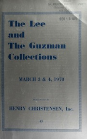 Public and mail auction sale : the Lee collection of Chinese dollars : the Gunzman collection of silver dollars of the world ... [03/03-04/1970]
