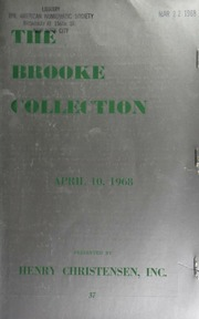 Public and mail auction sale : the brooke collection ... [04/10/1968]