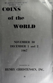 Public and mail auction sale : coins of the world. [11/30/1967]-[12/02/1967]