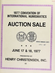 Public and mail auction sale : 1977 convention of international numismatics ... [06/17-18/1977]