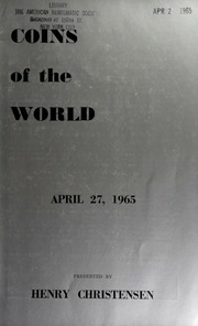 Public and mail auction sale : Coins of the world. [04/27/1965]