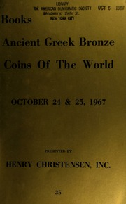 Public and mail auction sale : coins of the world ... [10/24-25/1967]