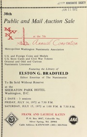 Public and mail auction sale ... : featuring the library of Elston G. Bradfield ... [07/14-15/1972]