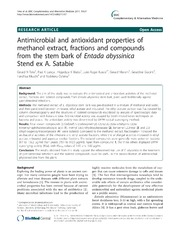 stem bark extracts of anthocleista antioxidant properties The objective of the present study was to investigate the antiplasmodial effect of the ethanolic stem bark extract of anthocleista vogelii at different doses in.