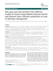 Vol 11: Who pays and who benefits How different models of shared responsibilities between formal and informal carers influence projections of costs of dementia management.