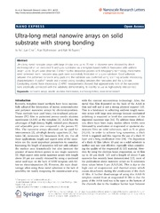 Vol 6: Ultra-long metal nanowire arrays on solid substrate with strong bonding.