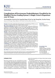 Prospective evaluation of complications using the modified Clavien grading system, and of success rates of percutaneous nephrolithotomy using Guy's Stone Score: A single-center experience.          texts        Prospective evaluation of complications using the modified Clavien grading system, and of success rates of percutaneous nephrolithotomy using Guy's Stone Score: A single-center experience.