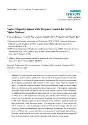 Vol 12: Vector Disparity Sensor with Vergence Control for Active Vision Systems.
