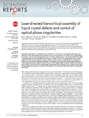Vol 2: Laser-directed hierarchical assembly of liquid crystal defects and control of optical phase singularities.