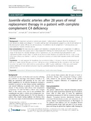 Vol 13: Juvenile elastic arteries after 28 years of renal replacement therapy in a patient with complete complement C4 deficiency.