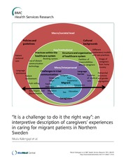 Vol 12: It is a challenge to do it the right way: an interpretive description of caregivers- experiences in caring for migrant patients in Northern Sweden.