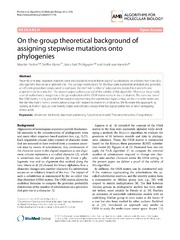 Vol 7: On the group theoretical background of assigning stepwise mutations onto phylogenies.