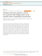 Vol 4: Ultrafast universal quantum control of a quantum-dot charge qubit using Landau-Zener-Stckelberg interference.