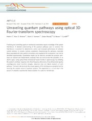 Vol 4: Unraveling quantum pathways using optical 3D Fourier-transform spectroscopy.