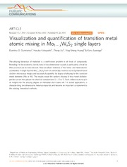 Vol 4: Visualization and quantification of transition metal atomic mixing in Mo1−xWxS2 single layers.