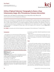 Vol 43: Utility of Optical Coherence Tomography to Assess a Hazy Intracoronary Image after Percutaneous Coronary Intervention.