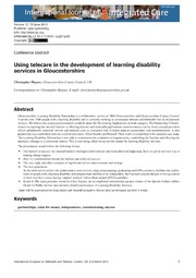 Vol 12: Using telecare in the development of learning disability services in Gloucestershire.