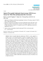Vol 12: Optical Waveguide Lightmode Spectroscopy OWLS as a Sensor for Thin Film and Quantum Dot Corrosion.