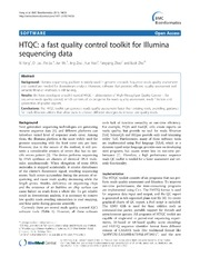 Vol 14: HTQC: a fast quality control toolkit for Illumina sequencing data.