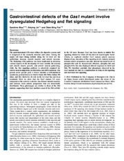 Vol 2: Gastrointestinal defects of the Gas1 mutant involve dysregulated Hedgehog and Ret signaling.