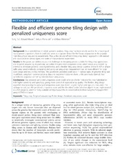 Vol 13: Flexible and efficient genome tiling design with penalized uniqueness score.