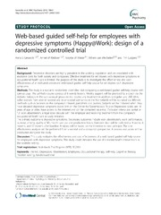 Vol 13: Web-based guided self-help for employees with depressive symptoms Happy@Work: design of a randomized controlled trial.