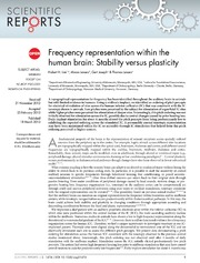 Vol 3: Frequency representation within the human brain: Stability versus plasticity.