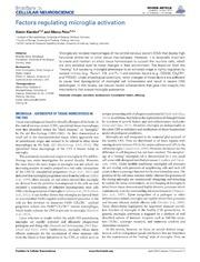 Vol 7: Factors regulating microglia activation.