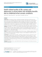 Vol 7: Health-related quality of life, anxiety and depression in young adults with disability benefits due to childhood-onset somatic conditions.