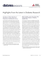 Vol 62: Highlights From the Latest in Diabetes Research.