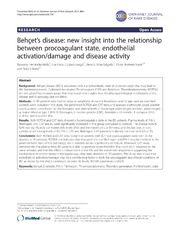 Vol 8: Behets disease: new insight into the relationship between procoagulant state, endothelial activation-damage and disease activity.