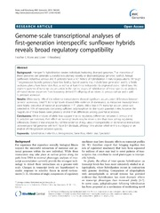 Vol 14: Genome-scale transcriptional analyses of first-generation interspecific sunflower hybrids reveals broad regulatory compatibility.