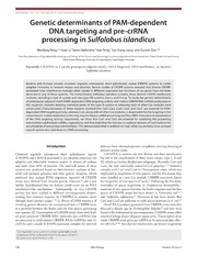 Vol 10: Genetic determinants of PAM-dependent DNA targeting and pre-crRNA processing in Sulfolobus islandicus.