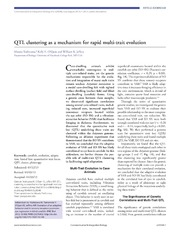 Vol 6: QTL clustering as a mechanism for rapid multi-trait evolution.