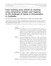 Vol 28: From reaching every district to reaching every community: analysis and response to the challenge of equity in immunization in Cambodia.