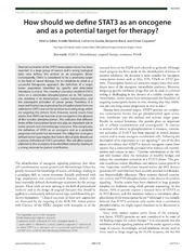 Vol 2: How should we define STAT3 as an oncogene and as a potential target for therapy