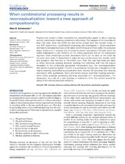Vol 4: When combinatorial processing results in reconceptualization: toward a new approach of compositionality.