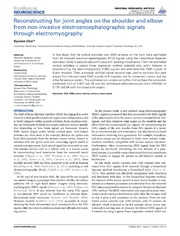 Vol 7: Reconstructing for joint angles on the shoulder and elbow from non-invasive electroencephalographic signals through electromyography.