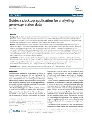 Vol 14: Guide: a desktop application for analysing gene expression data.