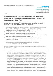 Vol 14: Understanding the Electronic Structures and Absorption Properties of Porphyrin Sensitizers YD2 and YD2-o-C8 for Dye-Sensitized Solar Cells.