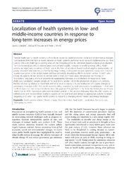 Vol 9: Localization of health systems in low- and middle-income countries in response to long-term increases in energy prices.