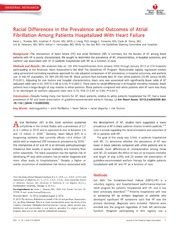 Vol 2: Racial Differences in the Prevalence and Outcomes of Atrial Fibrillation Among Patients Hospitalized With Heart Failure.