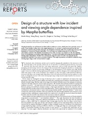 Vol 3: Design of a structure with low incident and viewing angle dependence inspired by Morpho butterflies.