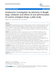 Vol 9: Urodynamic investigation by telemetry in Beagle dogs: validation and effects of oral administration of current urological drugs: a pilot study.