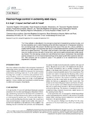 Vol 2013: Haemorrhage control in extremity stab injury.