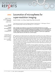 Vol 3: Locomotion of microspheres for super-resolution imaging.